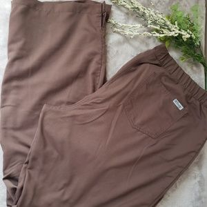 Greys Anatomy brown scrub pants. Size XL Long